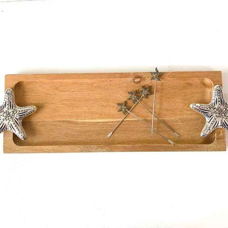 Platter & Aperitif Fork Set 44x15x4 STAR