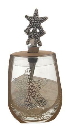 Wine Glass & Stopper STARFISH