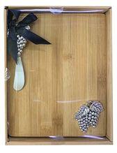 Board & Knife Set 24x19x3 GRAPES