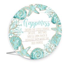 Sentiment Plaque 15x16 3D Reef HAPPINESS