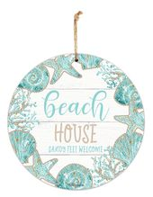 Hanging Tin Sign 30cm Reef HOUSE