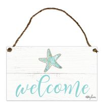 Hanging Tin Sign 18x30 Reef WELCOME