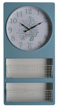 Iron Wall Clock47X97 Reef