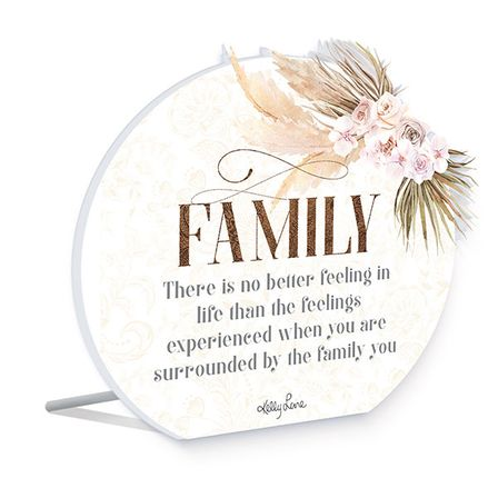 Sentiment Plaque 14x16 3D Bismark FAMILY