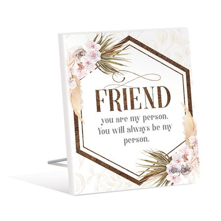 Sentiment Plaque 12x15 3D Bismark FRIEND