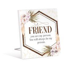 Sentiment Plaque 12x15 3D Bismark FRIEND