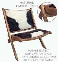 Chair Folding 80x80x80 NATURAL HIDE