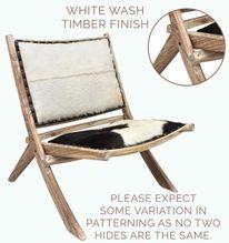 Chair Folding 80x80x80 WHITE HIDE