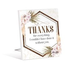 Sentiment Plaque 12x15 3D Bismark THANKS