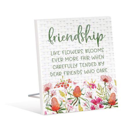 Sentiment Plaque 12x15 3D Blossom FRIENDSHIP