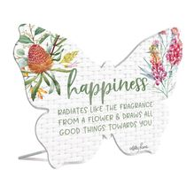 Sentiment Plaque 13x15 3D Blossom HAPPINESS