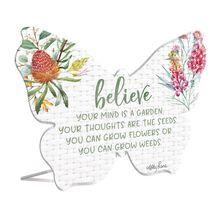 Sentiment Plaque 13x15 3D Blossom BELIEVE