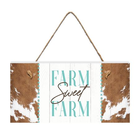 Hanging Plaque 15x30 3D Country FARM