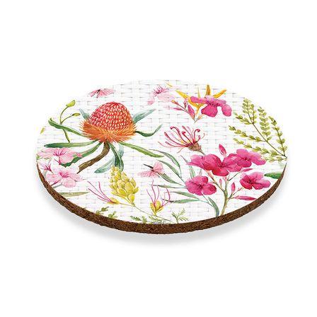 Coaster Round S/6 10cm Blossom FLORAL