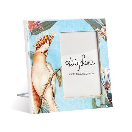 Photo Frame 20x20 6x4 3D Parrots BLUE 0012