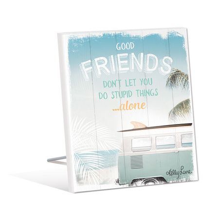 Sentiment Plaque 12x15 3D Wanderlust FRIENDS