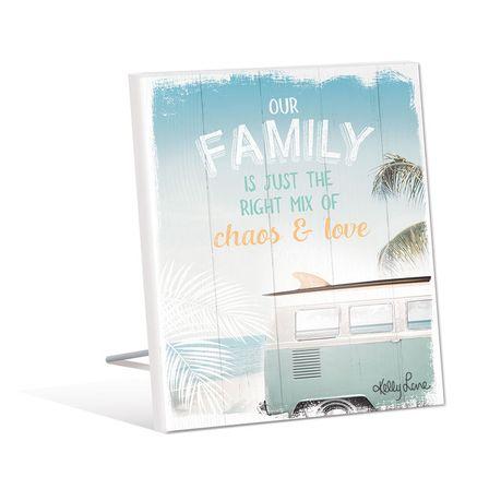 Sentiment Plaque 12x15 3D Wanderlust FAMILY