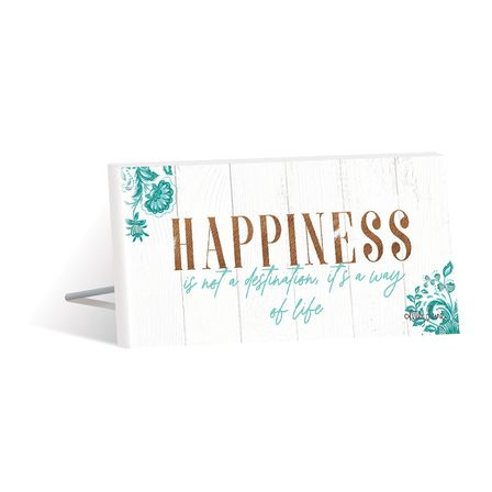 Sentiment Plaque 10x20 3D Country HAPPINESS