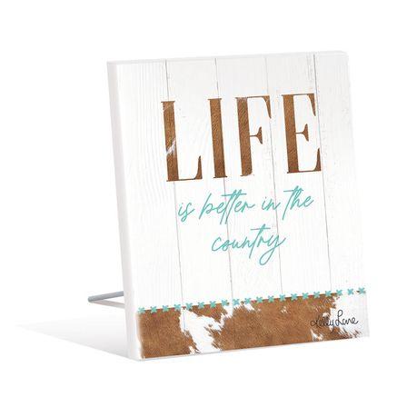Sentiment Plaque 12x15 3D Country LIFE