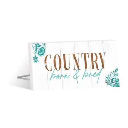 Sentiment Plaque 10x20 3D Country BORN