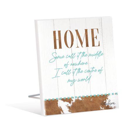 Sentiment Plaque 12x15 3D Country HOME