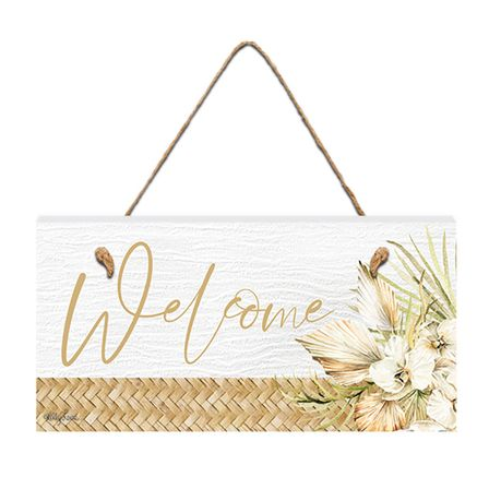 Hanging Plaque 15x30 3D Palomino WELCOME