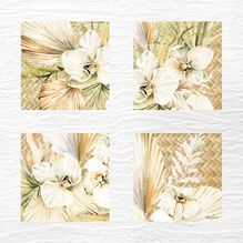 Painting 55x55 Collage Palomino ORCHIDS