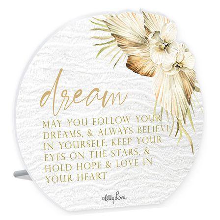 Sentiment Plaque 13x15 3D Palomino DREAM