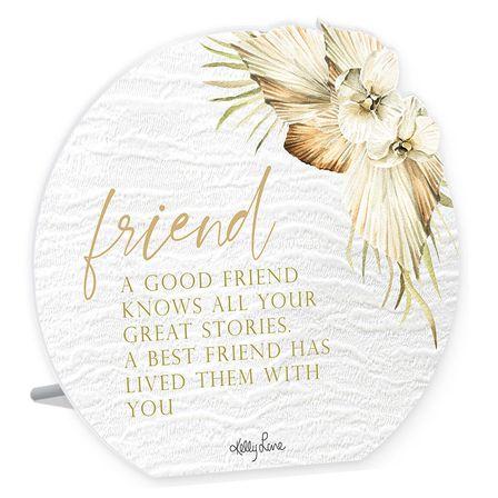Sentiment Plaque 13x15 3D Palomino FRIEND