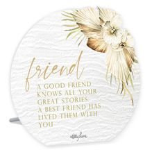 Sentiment Plaque 13x15 3D Palomino FRIEND