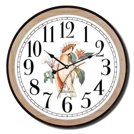 Clock 22cm Parrots COCATOO