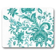 Placemat S/6 34x26.5 Country TURQUOISE