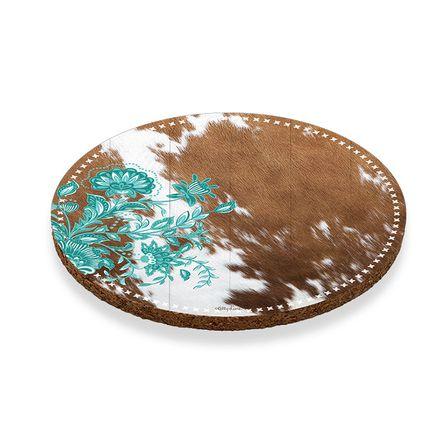 Coaster Round S/6 10cm Country STITCH