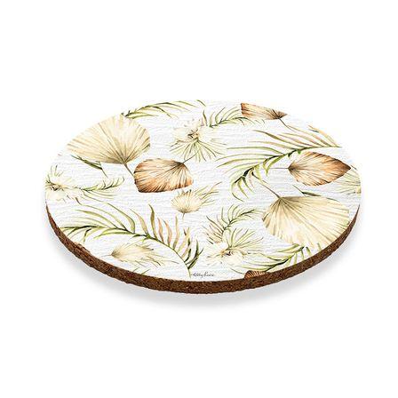 Coaster Round S/6 10cm Palomino LEAVES