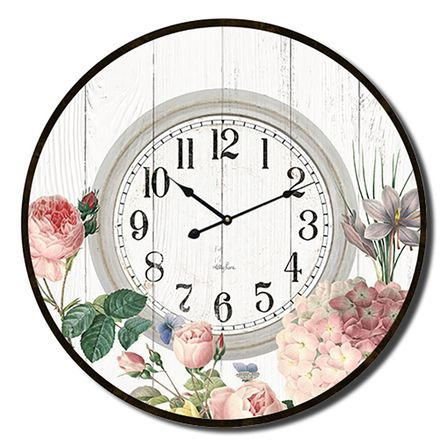 Clock 60cm Heirloom WHITE