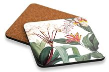 Coaster S/6 10x10 Lush FLOWER