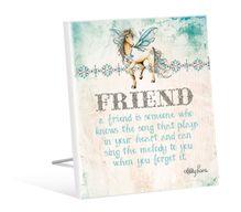 Sentiment Plaque 12x15 Pegasus FRIEND