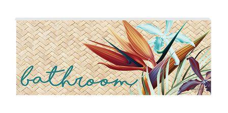 Door Plaque 8x18 3D Paradise BATHROOM