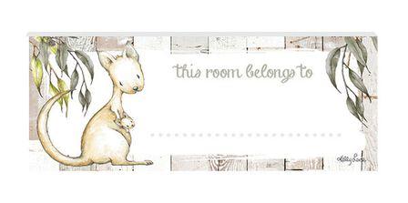 Door Plaque 8x18 3D Baby Joeys KANGAROO