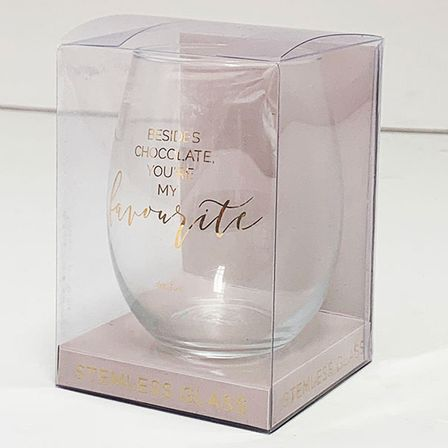 Stemless Glass Assorted Vogue CHOCOLATE