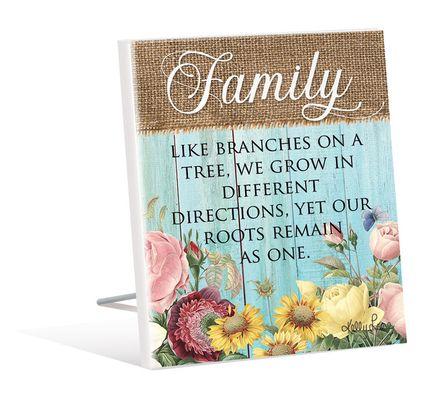 Sentiment 12x15 3D Heirloom FAMILY