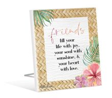 Sentiment Plaque 12x15 3D Hibiscus FRIENDSHIP
