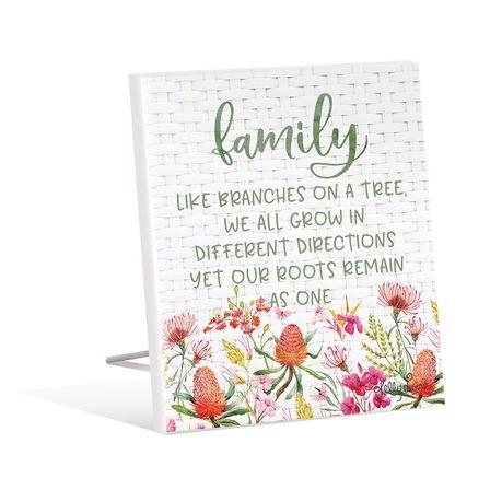 Sentiment Plaque 12x15 3D Blossom FAMILY