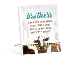Sentiment Plaque 12x15 Holy Cow BROTHER