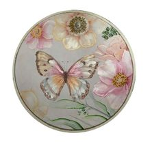 Framed Painting Round 80x80 FLUTTERBY