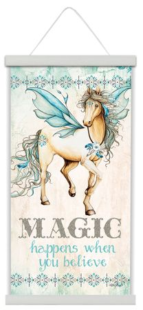 Canvas Scroll 30x60 Pegasus MAGIC