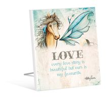 Sentiment Plaque 12x15 Pegasus LOVE
