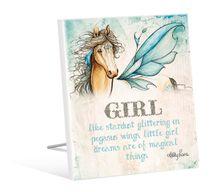 Sentiment Plaque 12x15 Pegasus GIRL