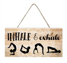 Hanging Plaque 15x30 Spiritual INHALE