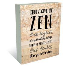 Plaque Block 20x25 Spiritual ZEN